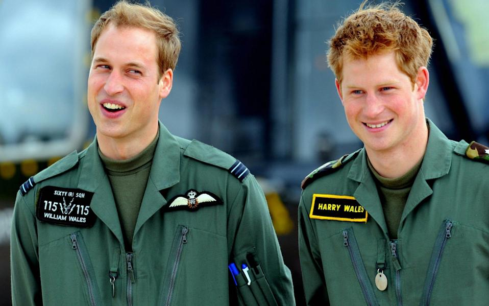 William and Harry were said to be closest when they were stationed at RAF Shawbury - Paul Ellis/AFP