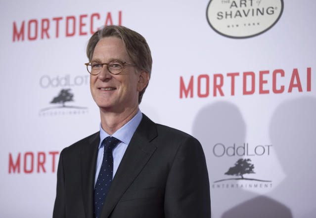 """Director of the movie David Koepp poses at the premiere of """"Mortdecai"""" at the TCL Chinese theatre in Hollywood, California January 21, 2015. The movie opens in the U.S. on January 23. REUTERS/Mario Anzuoni (UNITED STATES - Tags: ENTERTAINMENT)"""