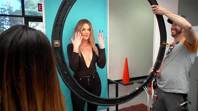 Khloé Kardashian makes sure that her new ID is flawless. (Photo: E!)