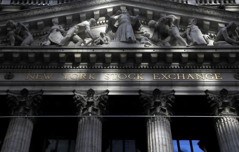 New York Stock Exchange (NYSE) building after the start of Thursday's trading session in New York