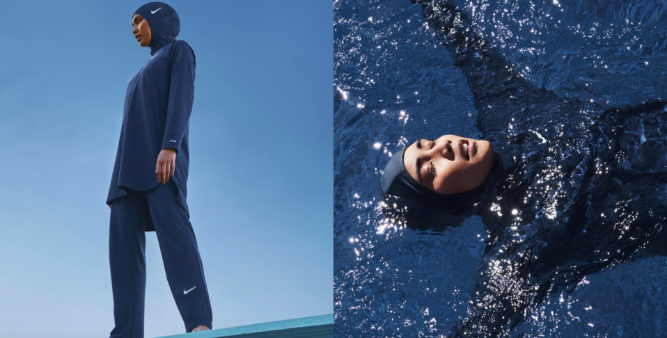 Nike has announced it is to launch a modest swimwear range including a hijab [Photo: Nike]