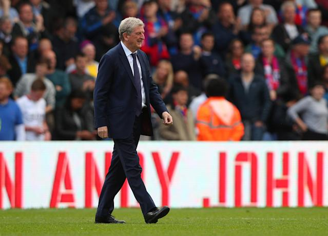 "Soccer Football - Premier League - Crystal Palace vs West Bromwich Albion - Selhurst Park, London, Britain - May 13, 2018 Crystal Palace manager Roy Hodgson after the match REUTERS/Hannah McKay EDITORIAL USE ONLY. No use with unauthorized audio, video, data, fixture lists, club/league logos or ""live"" services. Online in-match use limited to 75 images, no video emulation. No use in betting, games or single club/league/player publications. Please contact your account representative for further details."