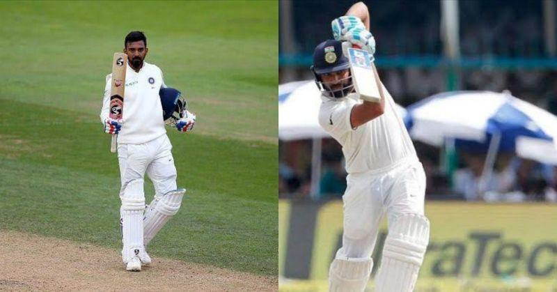 KL Rahul (L) and Rohit Sharma (R)