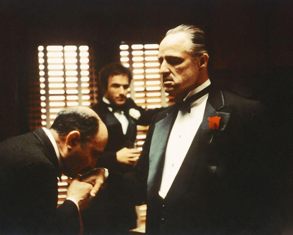 """<p>Francis Ford Coppola's first movie in the epic trilogy starred Marlon Brando and earned the actor an Academy Award for his portrayal of Vito Corleone. Audiences loved the mafia crime drama so much that it <a href=""""https://www.boxofficemojo.com/release/rl1381271041/weekend/"""" rel=""""nofollow noopener"""" target=""""_blank"""" data-ylk=""""slk:grossed more than $200 million"""" class=""""link rapid-noclick-resp"""">grossed more than $200 million</a> worldwide. </p>"""