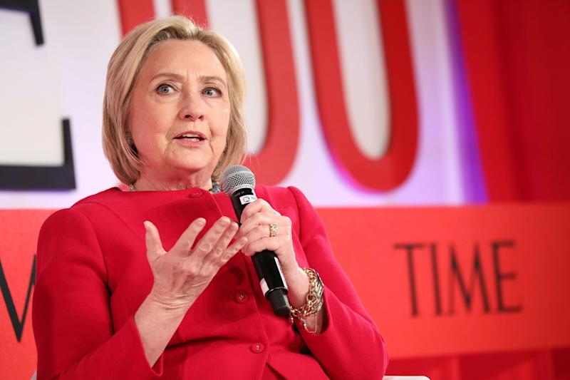 Hillary Clinton speaks at the Time 100 Summit in New York City on Tuesday. (Photo: Brian Ach/Getty Images)