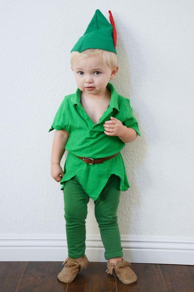 """<p>You keep hoping he won't grow up too fast, so why not dress him up as the boy who refused to grow up at all?</p><p><strong>Get the tutorial at <a href=""""https://www.babble.com/style/diy-peter-pan-halloween-costume-for-kids/"""" rel=""""nofollow noopener"""" target=""""_blank"""" data-ylk=""""slk:Babble"""" class=""""link rapid-noclick-resp"""">Babble</a>.</strong></p><p><strong><a class=""""link rapid-noclick-resp"""" href=""""https://www.amazon.com/Fabric-Assorted-Squares-Nonwoven-Patchwork/dp/B06XSW7TR2/?tag=syn-yahoo-20&ascsubtag=%5Bartid%7C10050.g.4975%5Bsrc%7Cyahoo-us"""" rel=""""nofollow noopener"""" target=""""_blank"""" data-ylk=""""slk:SHOP FELT"""">SHOP FELT</a></strong></p>"""