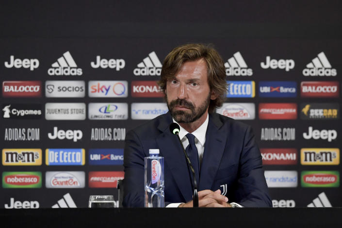 Andrea Pirlo's decorated playing career in Turin helped convince Juventus to hire him as manager despite a major lack of experience. (Daniele Badolato/Juventus FC via Getty Images)