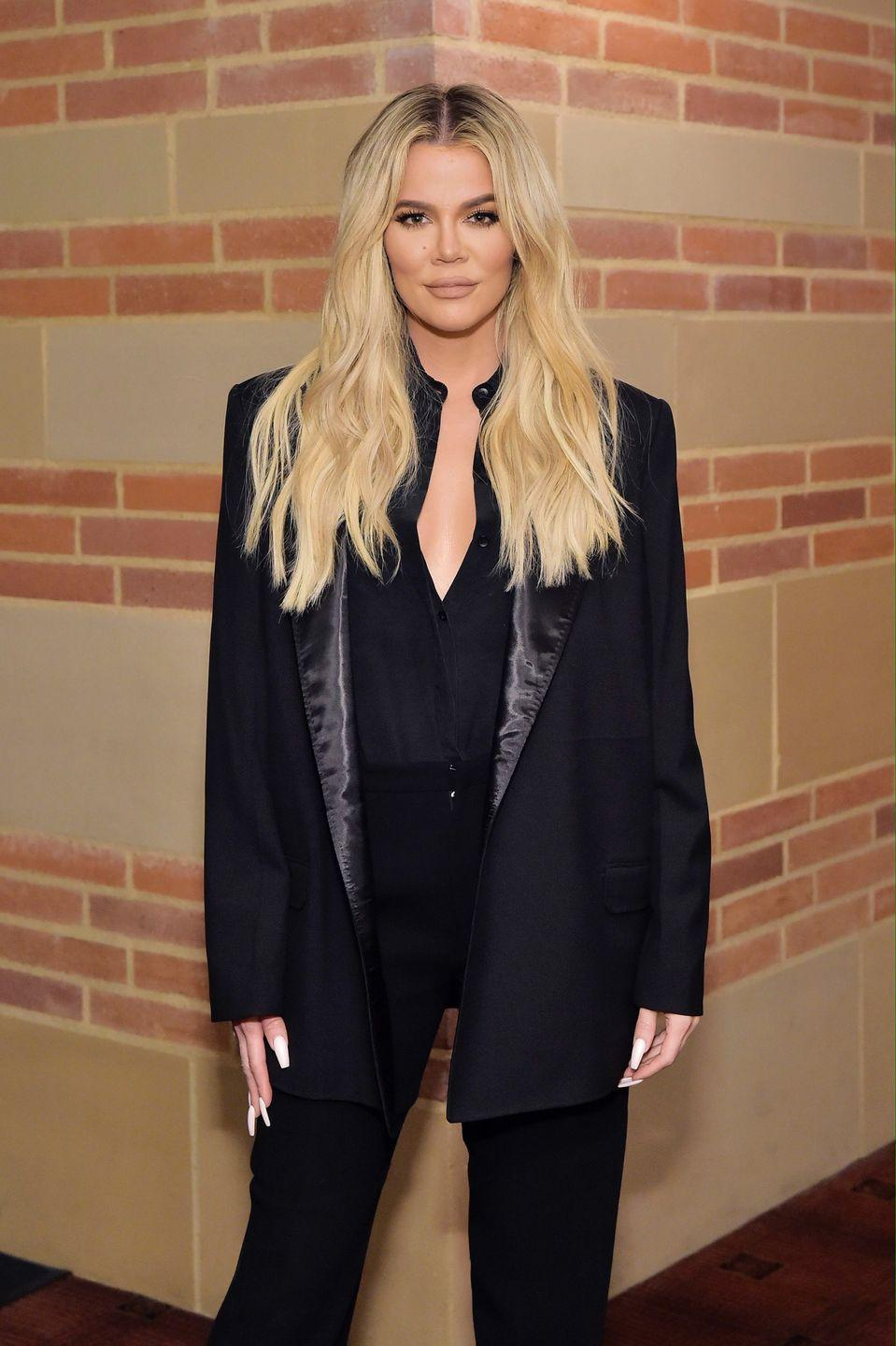 """<p>""""For me, everyone says, 'Oh my gosh, she's had her third face transplant,' but I've had one nose job,"""" Kardashian admitted during the <a href=""""https://people.com/health/khloe-kardashian-plastic-surgery-nose-job-injections-keeping-up-with-the-kardashians-reunion/"""" rel=""""nofollow noopener"""" target=""""_blank"""" data-ylk=""""slk:KUWTK series finale reunion"""" class=""""link rapid-noclick-resp""""><em>KUWTK </em>series finale reunion</a><em>.</em> """"And everyone gets so upset, like, why don't I talk about it. No one's ever asked me."""" On her talk show <em><a href=""""http://www.dailymail.co.uk/tvshowbiz/article-3508148/My-face-f-ed-Khloe-Kardashian-admits-facial-fillers-went-wrong-look-crazy.html"""" rel=""""nofollow noopener"""" target=""""_blank"""" data-ylk=""""slk:Kocktails With Khloe"""" class=""""link rapid-noclick-resp"""">Kocktails With Khloe</a>,</em> the star also admitted to having facial fillers dissolved. """"My face was so fucked I had to go and get this whole thing dissolved,"""" she said. """"It was a bummer and now I'm afraid to do it again. And I'm almost like, I swear things are still in my face.""""</p>"""