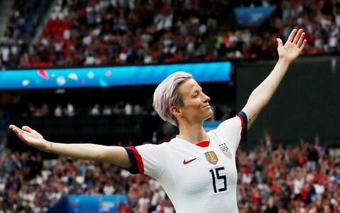Megan Rapinoe has long campaigned for equal pay - Credit: Reuters