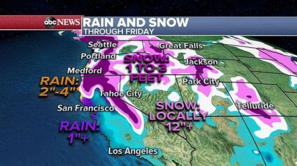 PHOTO: By Wednesday night, the storm will reach the San Francisco Bay area with heavy rain and it is expected to hit Los Angeles by Thursday afternoon. (ABC News)
