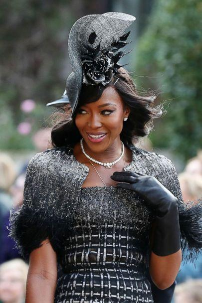 PHOTO: Naomi Campbell arrives at The wedding of Princess Eugenie and Jack Brooksbank, Windsor, Berkshire, Oct. 12, 2018. (REX via Shutterstock)