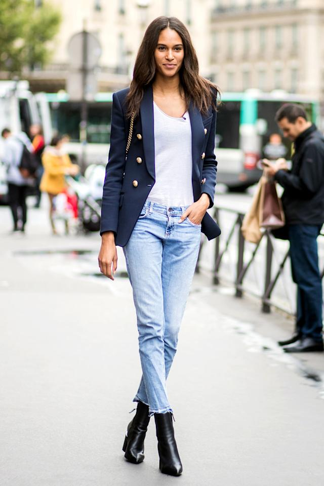 """Is there anything more versatile? Whether you style that <a rel=""""nofollow"""" href=""""https://www.glamour.com/gallery/the-perfect-white-t-shirt-according-to-glamour-editors?mbid=synd_yahoo_rss"""">perfect T-shirt</a> with a pair of jeans, a fancy skirt, or a slipdress, no closet is complete without one."""