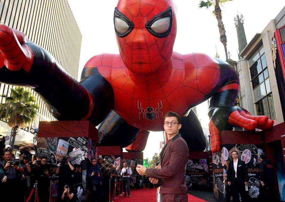 <p>Tom Holland attends the premiere of <em>Spider-Man Far From Home</em> at TCL Chinese Theatre on June 26, 2019 in Hollywood, California.</p>