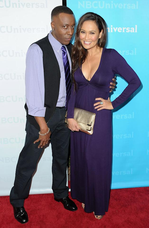 """<a href=""""/arsenio-hall/contributor/29443"""">Arsenio Hall</a> and <a href=""""/tia-carrere/contributor/28504"""">Tia Carrere</a> (""""<a href=""""/apprentice/show/35539"""">Celebrity Apprentice</a>"""") attend the 2012 NBC Universal Winter TCA All-Star Party at The Athenaeum on January 6, 2012 in Pasadena, California."""