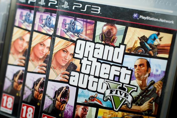 """Rockstar Games announced that the latest installment of its crime-themed blockbuster video game """"Grand Theft Auto"""" will hit PlayStation 4 and Xbox One consoles in November (AFP Photo/Neon Neal)"""