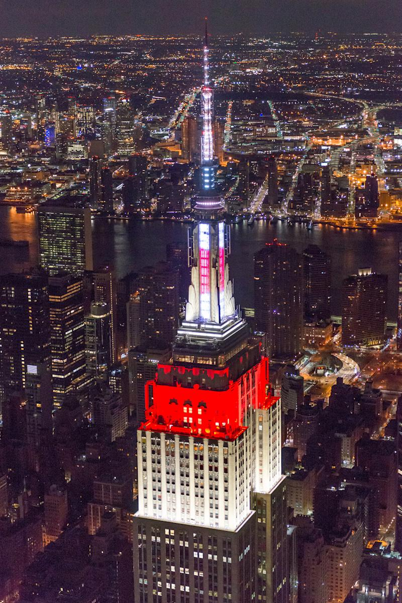 The Empire State Building shines for Japan in honor of the 2018 World Cup