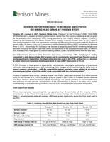 Denison Reports Decision to Increase Anticipated ISR Mining Head Grade at Phoenix by 50% (CNW Group/Denison Mines Corp.)