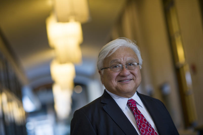 Former Rep. Mike Honda (D-Calif.) is joining Red to Blue California PAC as its chair to help lead the organization's efforts to flip seven GOP House seats to Democratic in 2018. (Bloomberg via Getty Images)