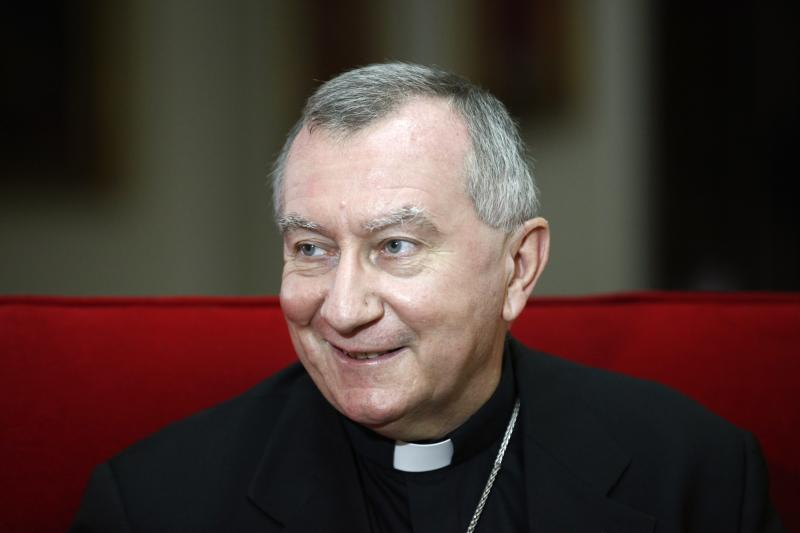 Vatican's newly appointed Secretary of State Monsignor Pietro Parolin speaks during an interview with Reuters TV in Caracas September 4, 2013. Pope Francis on August 31 made the most significant appointment of his pontificate so far, naming Parolin, a veteran diplomat as his secretary of state, Vatican prime minister and chief aide - a role often called the ''deputy pope''. REUTERS/Jorge Silva (VENEZUELA - Tags: POLITICS RELIGION)