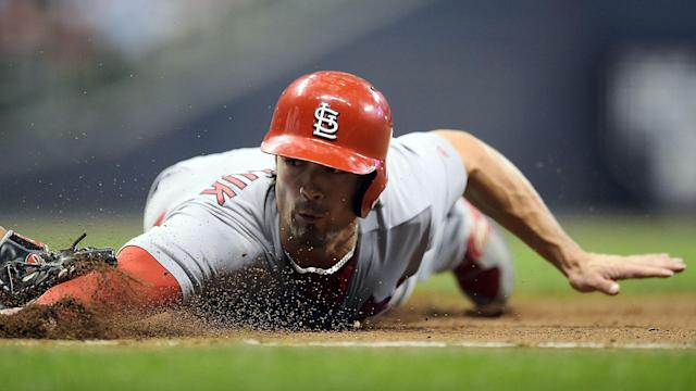 Randal Grichuk had 22 home runs and 59 RBIs for the Cardinals in 2017.
