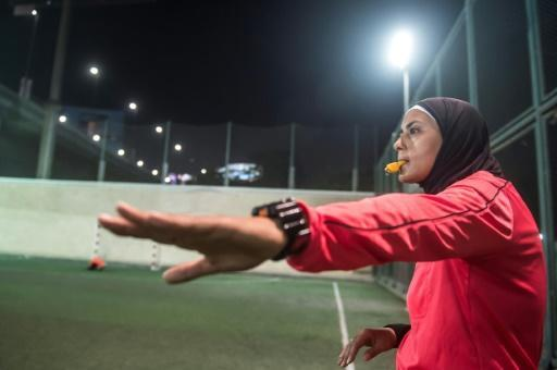 Egyptian Hanan Hassan holds an international referee licence and argues women may have an advantage on the pitch
