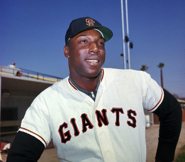 "FILE - In this April 1964 file photo, San Francisco Giants' Willie McCovey poses for a photo, date and location not known. McCovey, the sweet-swinging Hall of Famer nicknamed ""Stretch"" for his 6-foot-4 height and those long arms, has died. He was 80. The San Francisco Giants announced his death, saying the fearsome hitter passed peacefully Wednesday afternoon, Oct. 31, 2018, after losing his battle with ongoing health issues. (AP Photo, File)"