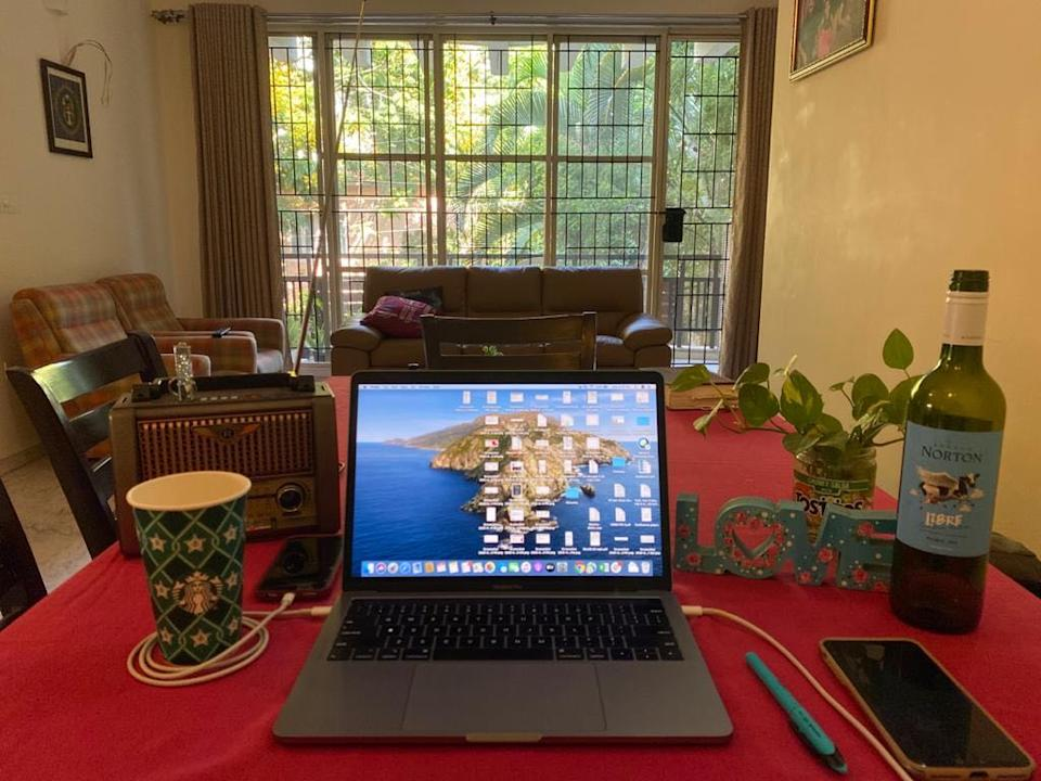 All we need is laptop and love! <em>Photo credit: Elismary Thayil</em>