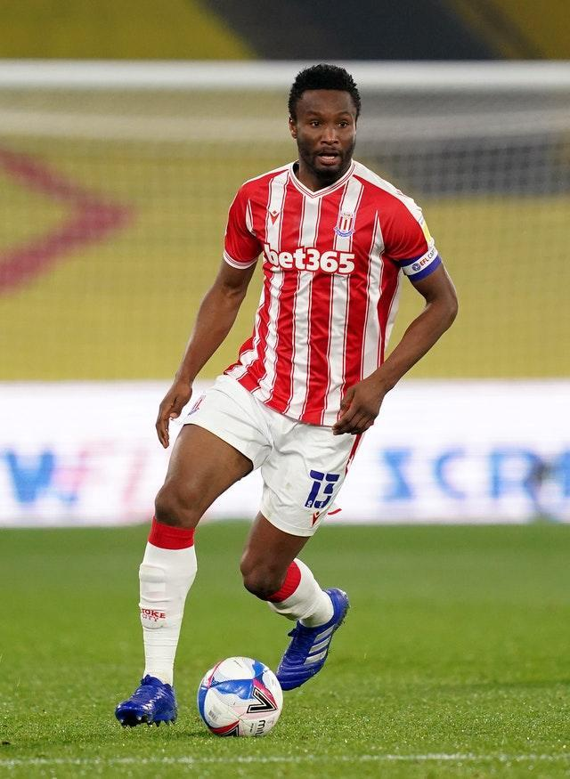 The game comes too soon for Stoke's injured former Chelsea star John Obi Mikel