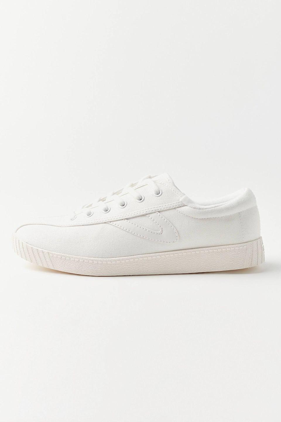 "<p><strong>Tretorn</strong></p><p>urbanoutfitters.com</p><p><strong>$44.99</strong></p><p><a href=""https://go.redirectingat.com?id=74968X1596630&url=https%3A%2F%2Fwww.urbanoutfitters.com%2Fshop%2Ftretorn-nylite-plus-sneaker2&sref=https%3A%2F%2Fwww.seventeen.com%2Ffashion%2Ftrends%2Fg32826210%2Fclassic-white-sneakers%2F"" rel=""nofollow noopener"" target=""_blank"" data-ylk=""slk:Shop Now"" class=""link rapid-noclick-resp"">Shop Now</a></p><p>You'll never go wrong with a classic that's tried-and-true. These eco-friendly canvas Tretorn kicks are just that. </p>"