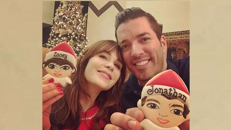 Zooey Deschanel and 'Property Brothers' star show off their Christmas cookie doppelgangers