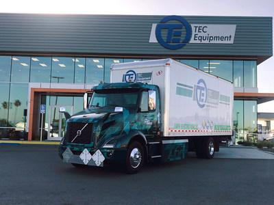 The first pilot Volvo VNR Electric truck has been deployed as part of the Volvo LIGHTS project, and is being utilized by Volvo Trucks' dealership TEC Equipment for local parts distribution in Southern California.
