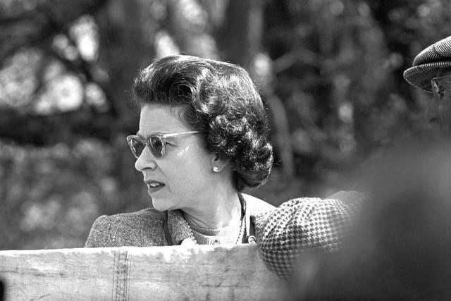 The Queen at Badminton Horse Trials during the 12-months of filming