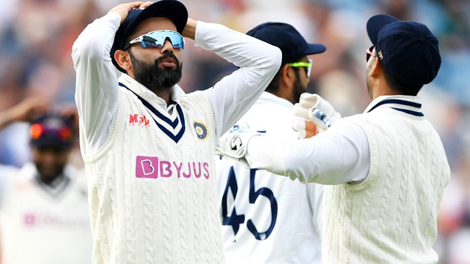 Virat Kohli, pictured here during the opening day of the third Test against England.