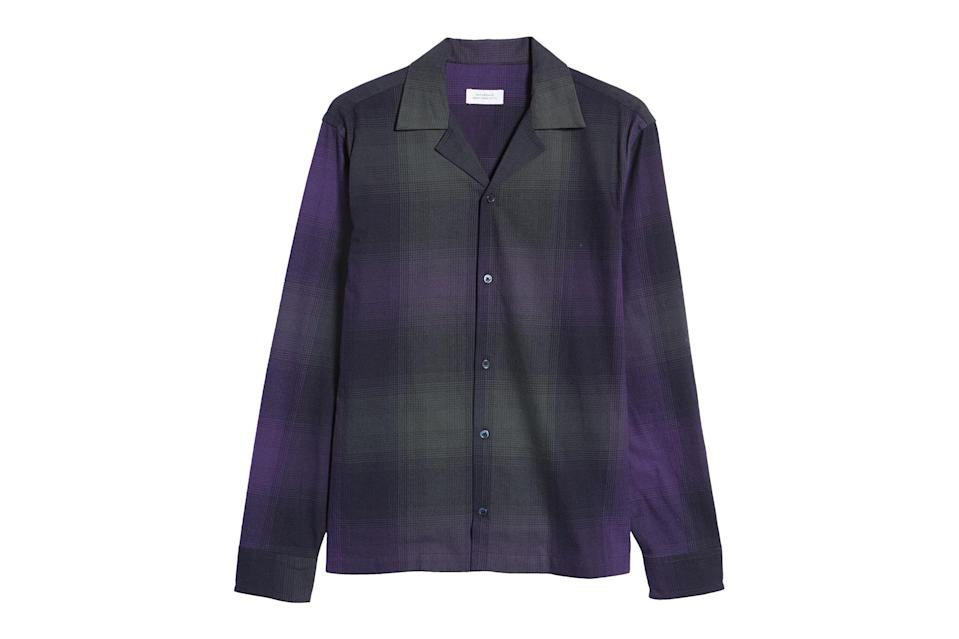 """$175, Nordstrom. <a href=""""https://www.nordstrom.com/s/saturdays-nyc-marco-plaid-flannel-mens-button-up-shirt/5819967?origin=category-personalizedsort&breadcrumb=Home%2FSale%2FMen%2FNew%20Markdowns&color=500"""" rel=""""nofollow noopener"""" target=""""_blank"""" data-ylk=""""slk:Get it now!"""" class=""""link rapid-noclick-resp"""">Get it now!</a>"""