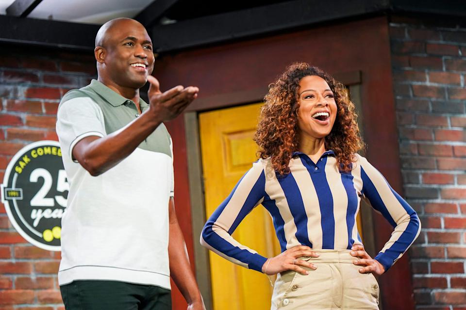 """Nischelle Turner hosts CBS' """"Secret Celebrity Renovation,"""" where famous participants, like Wayne Brady, can payback someone important with a home makeover."""