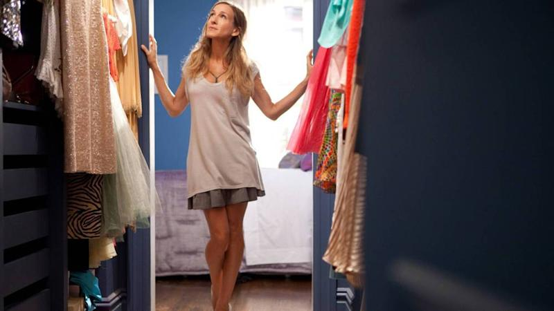"Welche Fashion-Apps würde Carrie Bradshaw in ""Sex and the City"" wohl bevorzugen? (Bild: imago images / EntertainmentPictures)"