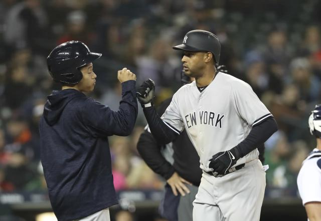 Yankees' outfielder Aaron Hicks completed a unique feat by hitting an inside-the-park home run and conventional home run in the same game. (AP)