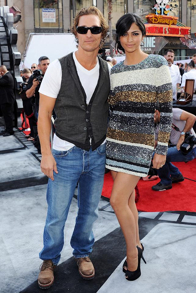 """<a href=""""http://movies.yahoo.com/movie/contributor/1800018907"""">Matthew McConaughey</a> and Camilla Alves attend 'IRIS, A Journey Through the World of Cinema' by Cirque du Soleil premiere in Hollywood on September 25, 2011."""