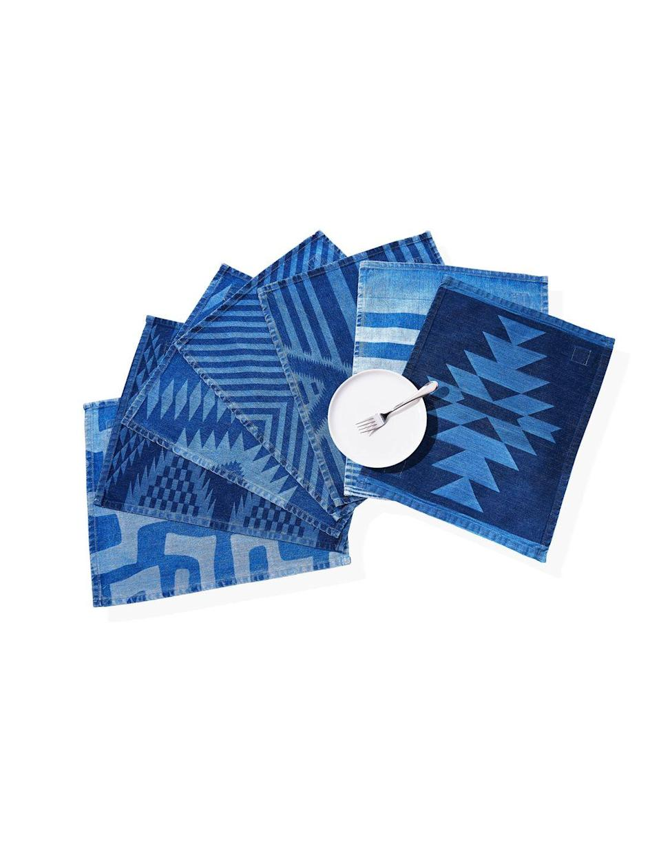 """<p><strong>Mi Cocina</strong></p><p>$20 Each</p><p><a class=""""link rapid-noclick-resp"""" href=""""https://micocinaus.com/collections/placemats"""" rel=""""nofollow noopener"""" target=""""_blank"""" data-ylk=""""slk:SHOP NOW"""">SHOP NOW</a></p><p><em>Originally $20 each, now 20 percent off with code OPRAH</em></p><p>A designer tabled his fashion career to team with his wife and create denim placemats that are rustic, modern, and manufactured in San Francisco.</p>"""