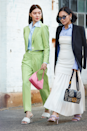 <p>One shirt, two ways. Wear your fave collared top with a trouser suit or, alternatively, layer under a strapless dress and shrug a blazer over your shoulders. </p>