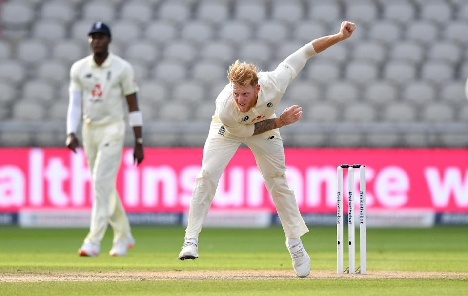 Ben Stokes of England bowls against Pakistan at Emirates Old Trafford (Getty)