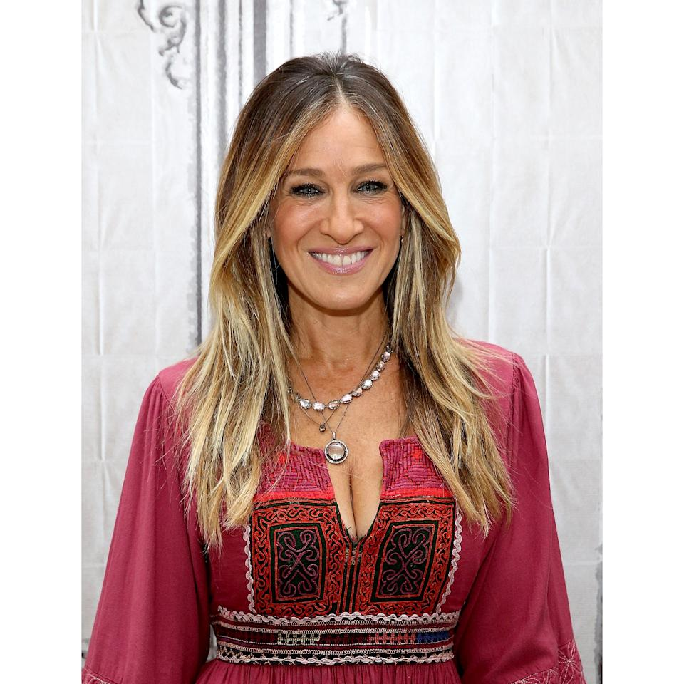 <p>Sarah Jessica Parker's hair is heavily layered around the face, with deep snipped-in layers all throughout the ends. If your hair is naturally straight, this will probably be the easiest haircut you'll ever have — and it's a particularly flattering cut on those with tons of fine hair. If your jawline is more on the square side, request pieces that start just above your cheekbones; those with an oval or heart-shaped face will look best with layers beginning around the chin.</p>