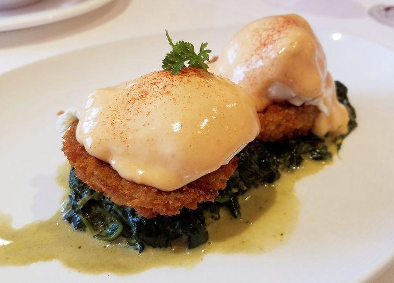 "<p>Eggs Sardou was invented at the famous Antoine's, one of <a href=""https://www.thedailymeal.com/travel/oldest-restaurant-every-state-gallery?referrer=yahoo&category=beauty_food&include_utm=1&utm_medium=referral&utm_source=yahoo&utm_campaign=feed"">the oldest restaurants in America</a>. Today, it's one of the stars of the menu at Brennan's, home to one of <a href=""https://www.thedailymeal.com/eat/best-brunch-every-state-gallery?referrer=yahoo&category=beauty_food&include_utm=1&utm_medium=referral&utm_source=yahoo&utm_campaign=feed"">America's best brunches</a>. This dish features a poached egg and creamy Choron sauce on top of a crispy fried artichoke heart and creamed spinach.</p> <p><a href=""https://www.thedailymeal.com/recipes/eggs-sardou-brennans-recipe?referrer=yahoo&category=beauty_food&include_utm=1&utm_medium=referral&utm_source=yahoo&utm_campaign=feed"">For the eggs Sardou recipe, click here. </a></p>"