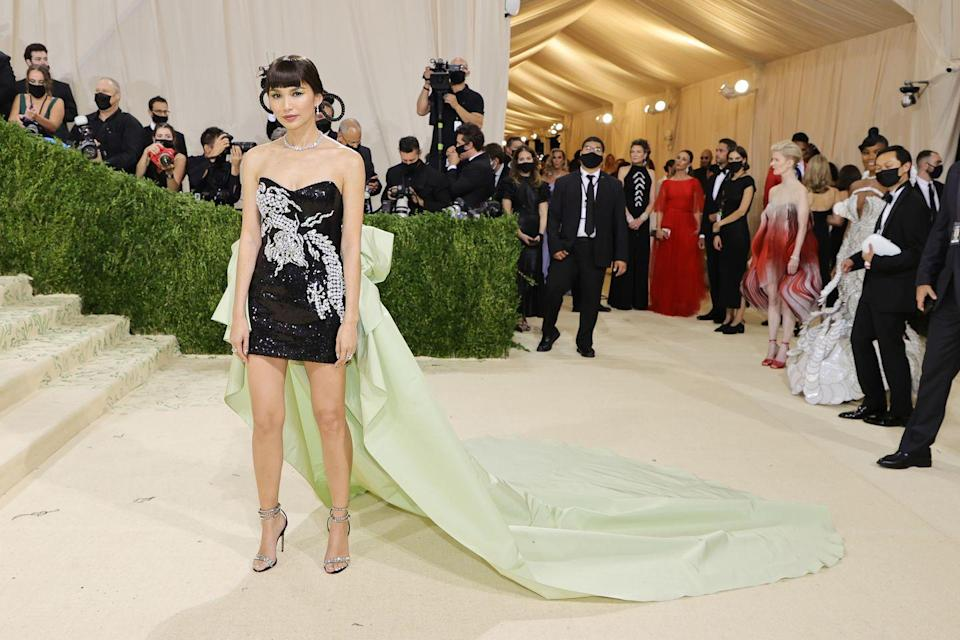 <p>Gemma Chan paid tribute to Hollywood's first Chinese-American star, Anna May Wong in a Prabal Gurung gown.</p>