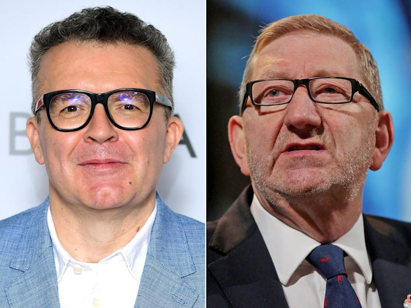 Tom Watson (left) and Len McCluskey were once flatmates: PA