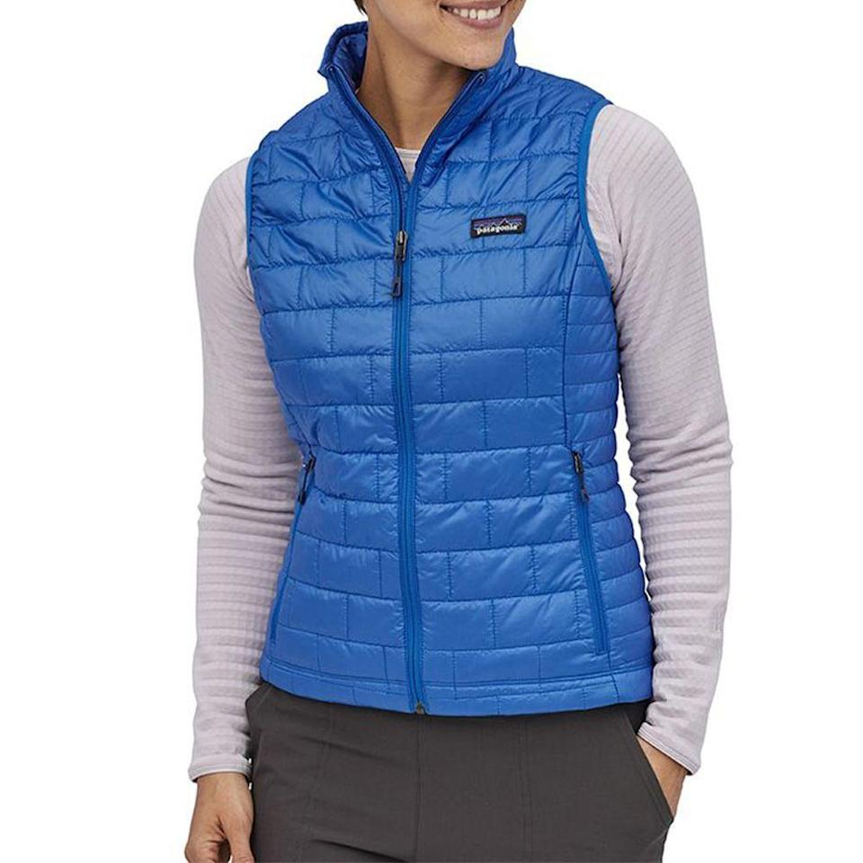 """<p><strong>Patagonia</strong></p><p>backcountry.com</p><p><strong>$104.30</strong></p><p><a href=""""https://go.redirectingat.com?id=74968X1596630&url=https%3A%2F%2Fwww.backcountry.com%2Fpatagonia-nano-puff-vest-womens&sref=https%3A%2F%2Fwww.menshealth.com%2Ftechnology-gear%2Fg34453261%2Fbest-gifts-for-sister%2F"""" rel=""""nofollow noopener"""" target=""""_blank"""" data-ylk=""""slk:BUY IT HERE"""" class=""""link rapid-noclick-resp"""">BUY IT HERE</a></p><p>Patagonia is one of those brands where you can't go wrong with whatever you buy. This wear-with-anything vest is perfectly packable and great for any adventure.</p>"""
