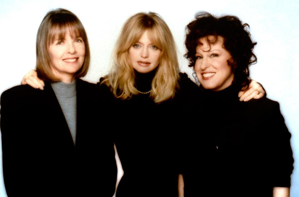 "<p>Diane Keaton, Goldie Hawn, and Bette Midler star as three lifelong friends who decide to get delicious revenge on their ex-husbands (played by Stephen Collins, Victor Garber, and Dan Hedaya). It's campy, witty, and features a truly iconic dance number set to ""You Don't Own Me.""</p> <p><em>Available to rent on</em> <a href=""https://www.amazon.com/First-Wives-Club-Bette-Midler/dp/B002O2QKP6/"" rel=""nofollow noopener"" target=""_blank"" data-ylk=""slk:Amazon Prime Video"" class=""link rapid-noclick-resp""><em>Amazon Prime Video</em></a><em>.</em></p>"