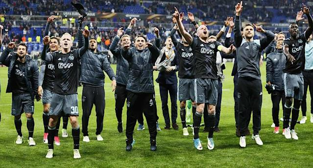 Ajax reached its first European final since 1996. (Reuters)