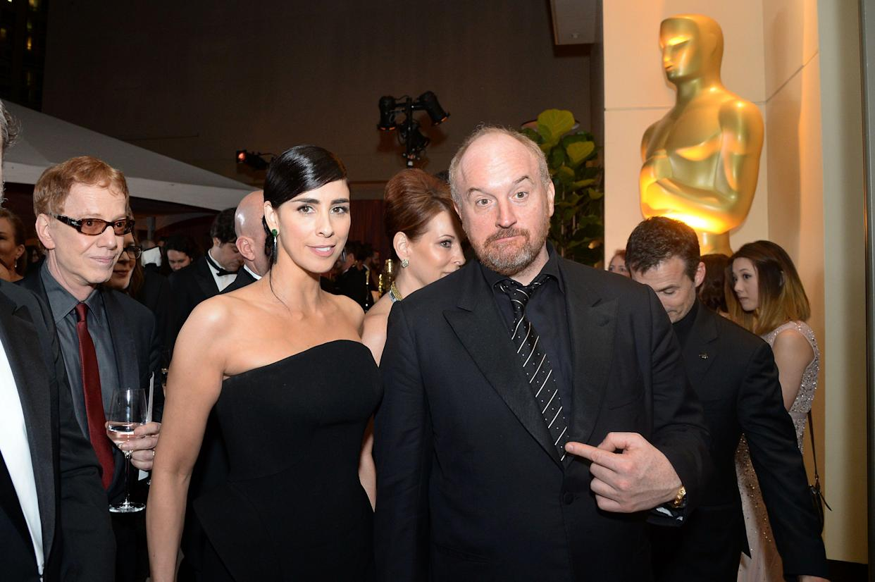Sarah Silverman and Louis C.K. at the 88th Annual Academy Awards Governors Ball in 2016. (Photo: Getty Images)