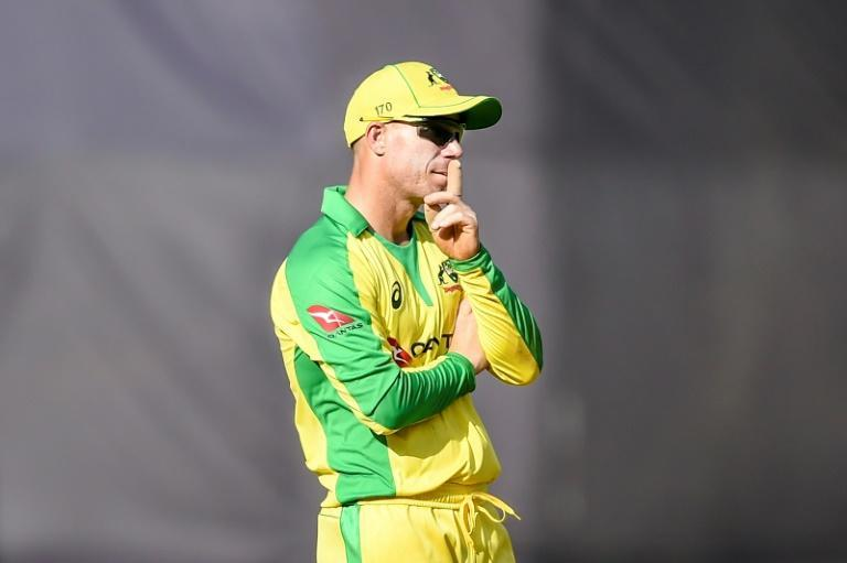 Keeping it zipped: Australia's David Warner says he will let his bat do the talking when the series against India starts later this week